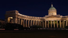 The Kazan Cathedral Panorama in White nights Royalty Free Stock Photos