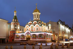 Kazan Cathedral, Red square Royalty Free Stock Photos