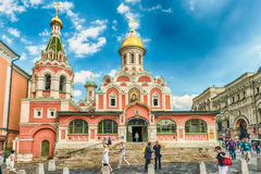 Kazan Cathedral in Red Square, Moscow, Russia. MOSCOW - AUGUST 22, 2016: Kazan Cathedral in Red Square, Moscow, Russia. Aka Cathedral of Our Lady of Kazan, its Royalty Free Stock Photography