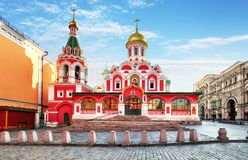 Kazan cathedral on Red Square, Moscow, Russia royalty free stock photos