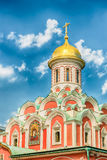 Kazan Cathedral in Red Square, Moscow, Russia. The russian orthodox Kazan Cathedral, iconic landmark in Red Square, Moscow, Russia Stock Photo
