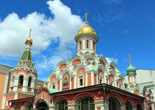 Kazan Cathedral on Red Square in Moscow stock photos