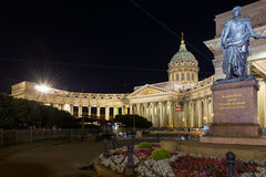 Kazan Cathedral in Saint Petersburg. The Kazan Cathedral on the Nevsky Prospekt in Saint Petersburg Stock Photos