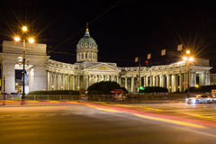 Kazan Cathedral in Saint Petersburg. The Kazan Cathedral on the Nevsky Prospekt in Saint Petersburg Royalty Free Stock Photo