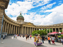 Kazan Cathedral in St Petersburg Royalty Free Stock Images
