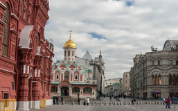 Kazan Cathedral, State Historical Museum. Moscow Street scene. Stock Photography
