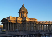Kazan cathedral at winter St. Petersburg Stock Images