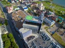 kazan Centre de vue aérienne de ville à l'hôtel grand Photos libres de droits