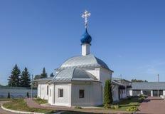 Kazan Church with hospital wards. Moskovskaya street, Pereslavl-Zalessky, Yaroslavl region. Russian Federation. September 2018 stock photo