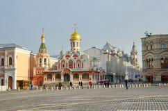Kazan domkyrka i Moskva, Ryssland royaltyfri foto