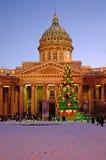 Kazan domkyrka in i Petersburg, Ryssland Arkivfoto