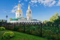 Kazan domkyrka i seraf-Diveevokloster för helig Treenighet, dyk royaltyfri fotografi