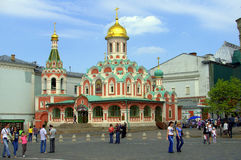 Kazan domkyrka, Moskva, Ryssland Royaltyfri Fotografi
