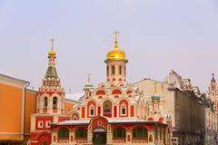 Kazan domkyrka på röd fyrkant moscow Royaltyfria Foton
