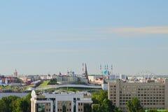 Kazan het Kremlin en zijn nabijheid Kazan, Tatarstan, Rusland stock foto's