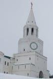 Kazan het Kremlin - Spasskaya-Verlossertoren - beroemd monument van het kapitaal van Tatarstan royalty-vrije stock foto's