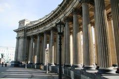 Kazan katedra, święty Petersburg na zewnątrz kolumnady Zdjęcie Royalty Free