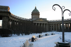 Kazan katedra, st. Petersburg, Rosja Zdjęcie Royalty Free