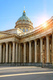 Kazan katedra w St Petersburg, Rosja przy zmierzchem Fotografia Stock