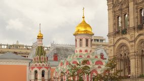 Kazan Kathedraal op Rood Vierkant Stock Fotografie