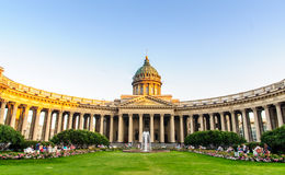 Kazan Kathedraal in St Petersburg Royalty-vrije Stock Afbeelding