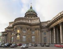 Kazan kathedraal in St Petersburg, Rusland stock foto's