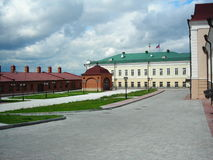 Kazan kreml. Historical russian building in the summer stock photo