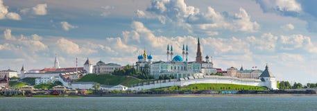 The Kazan Kremlin on the banks of the river Kazanka, Russia stock photos