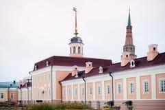 Kazan Kremlin. Building and tower in Kazan Kremlin Royalty Free Stock Photography