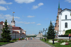Kazan Kremlin. Central Street Royalty Free Stock Photos