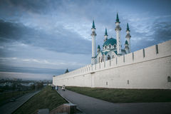 Kazan Kremlin. Fairytale Kremlin in the center of Kazan city in Russia stock photo