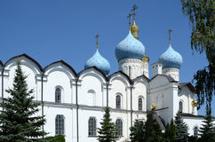Kazan Kremlin, a fragment of the Annunciation Cathedral Royalty Free Stock Images