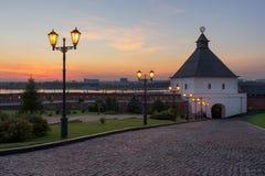 Kazan Kremlin Kasan-Stadt, Russland Lizenzfreies Stockfoto