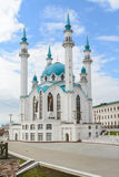Kazan Kremlin, the Kul-Sharif mosque against the blue sky.  Royalty Free Stock Images