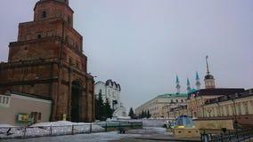 Kazan Kremlin Le Tatarstan, Russie Vues historiques Place de touristes Vieille ville antique image stock