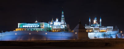 Kazan Kremlin at night Stock Photos