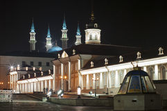 Kazan Kremlin at night, inside view Royalty Free Stock Image