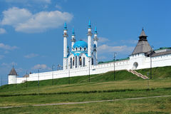 Kazan Kremlin with Qolsharif Mosque, Russia Stock Photos