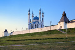 Kazan Kremlin with Qolsharif Mosque at sunset, Russia Royalty Free Stock Photo