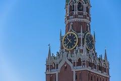 kazan kremlin spasskayatorn Arkivbilder