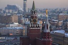 kazan kremlin spasskayatorn Arkivbild