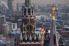 kazan kremlin spasskayatorn Royaltyfri Foto
