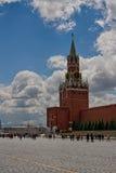 kazan kremlin spasskayatorn MoskvaKreml, röd fyrkant, Ryssland Royaltyfria Bilder