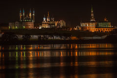 Kazan Kremlin in summer night Stock Image