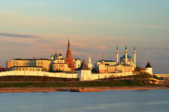 Kazan Kremlin at sunset Royalty Free Stock Images