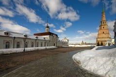 kazan kremlin territorium Arkivfoto