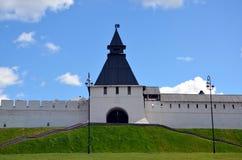 Kazan Kremlin. The Transfiguration tower of the Kazan Kremlin. Kazan, Tatarstan, Russia royalty free stock image