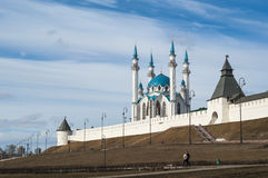 Kazan Kremlin, view of the Kul-Sharif Mosque Stock Photos