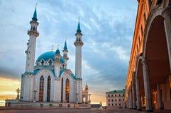 Kazan. The Kul Sharif mosque in Kazan Kremlin at sunset Royalty Free Stock Photos