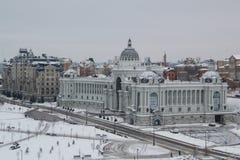 Kazan, la Russia, il 3 dicembre 2016, Ministero dell'ambiente ed agricoltura Tatarstan al giorno di inverno Fotografia Stock